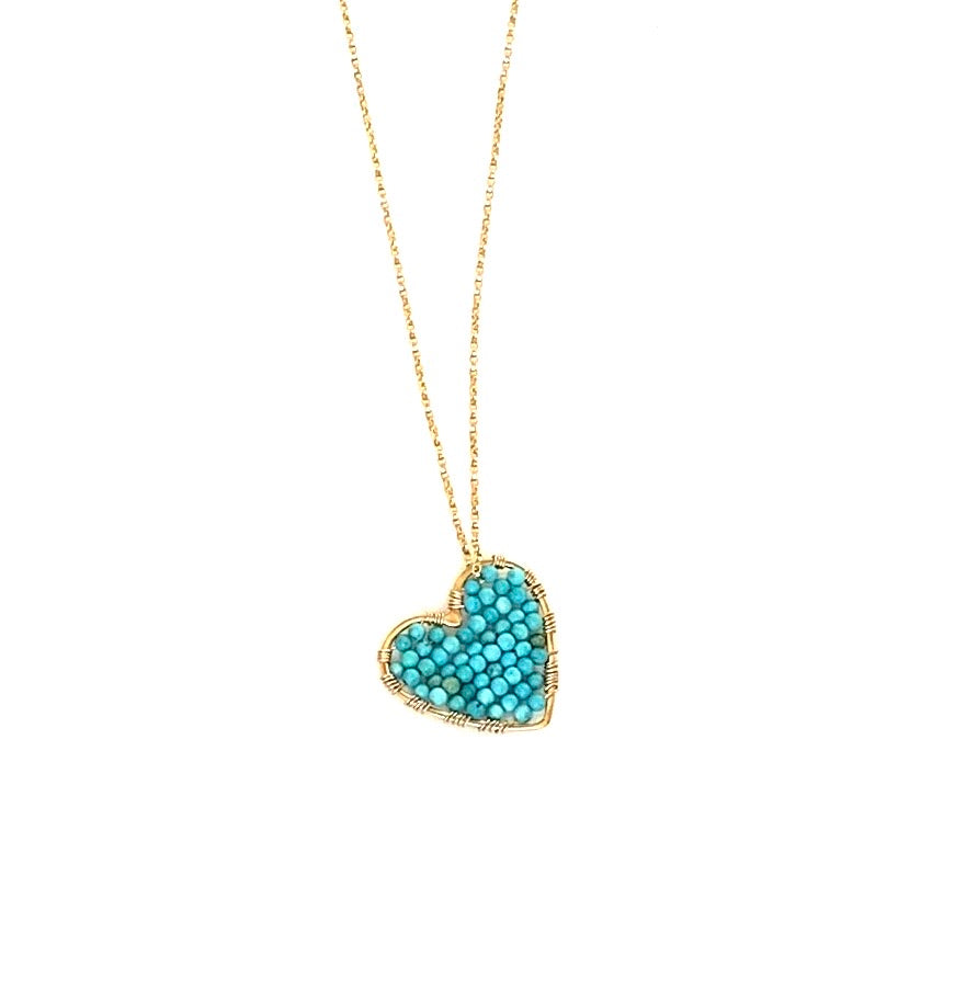 CH x CG gold  love drop in turquoise