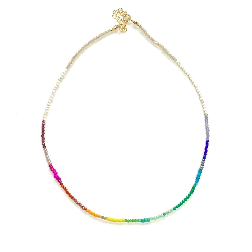 Load image into Gallery viewer, Spectrum layering necklace in white