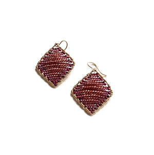Load image into Gallery viewer, Gold diamond shape in rhodolite
