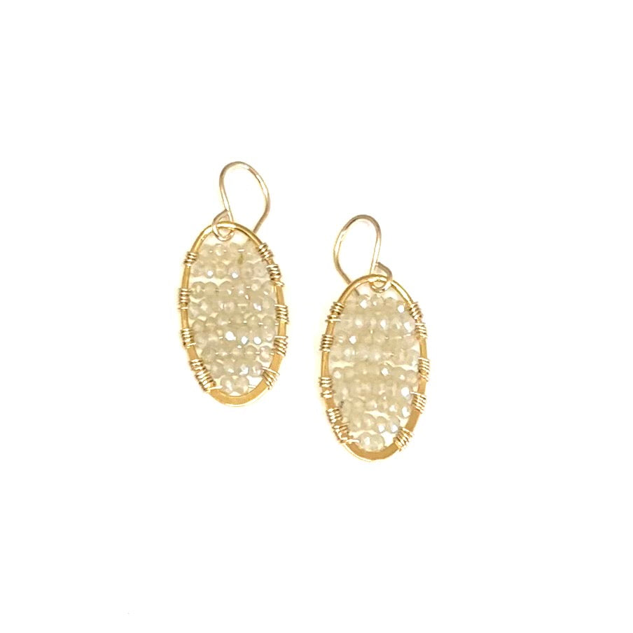 Gold ovals in moon glow, small