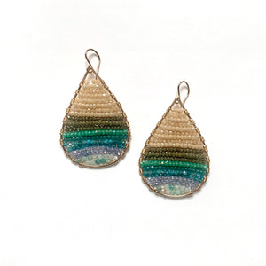 14k gold teardrops in lush ombre, medium