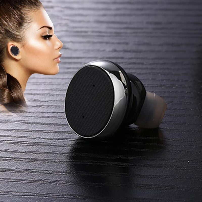 1-Unit: Mini Invisible Wireless Bluetooth 10.0 Stereo In-Ear Headset Earphone Phones & Accessories - DailySale