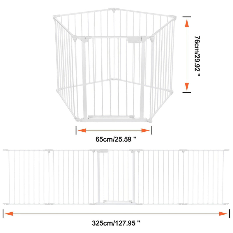 10 ft Wide Baby Gate Playard Satey Rail Fence Barrier Room Divider 5 Panels Baby - DailySale