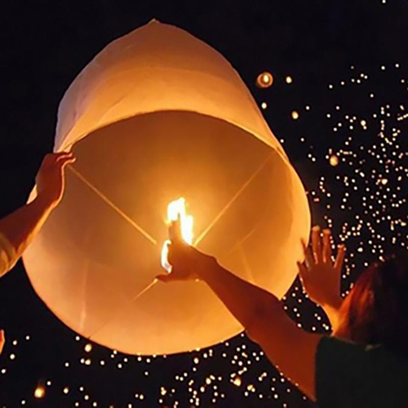 10-Pack: Biodegradable Paper Sky Lanterns Sports & Outdoors - DailySale