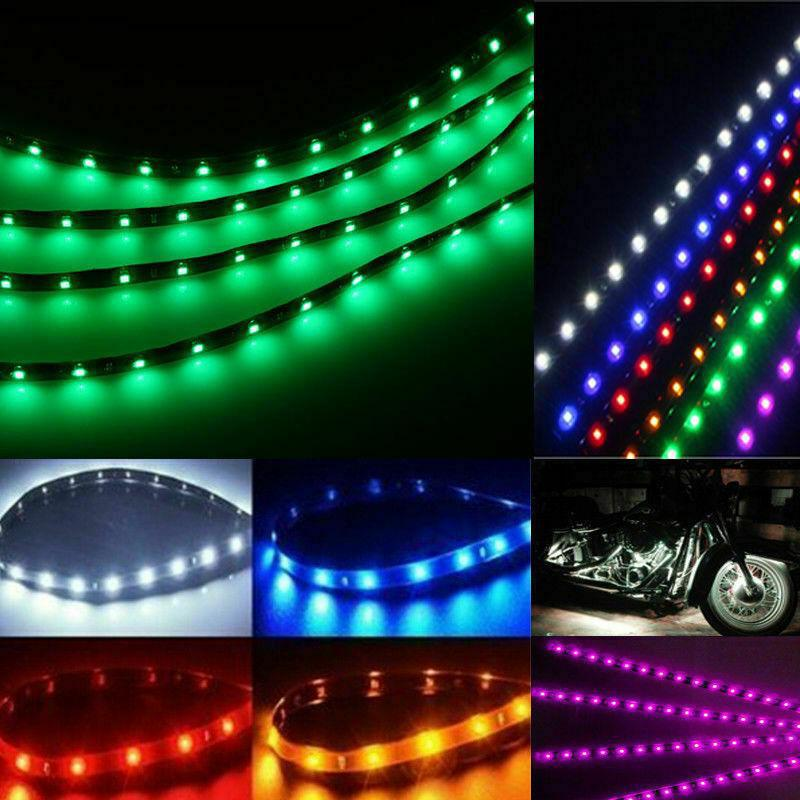 "10-Piece: 12"" 15SMD Waterproof 12V Flexible LED Strip Light For Car Automotive - DailySale"