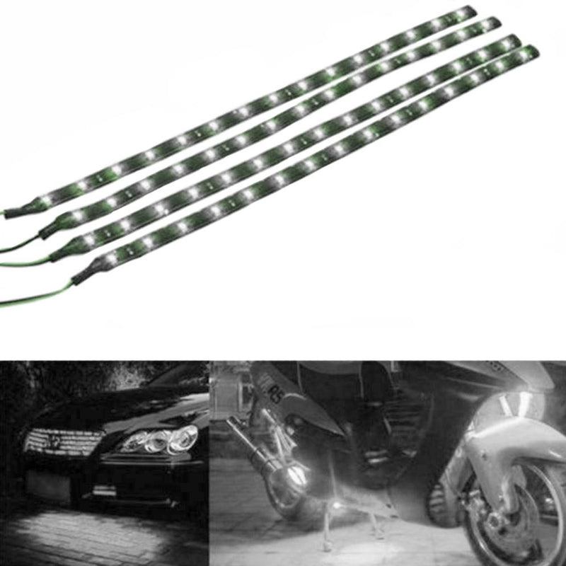 "10-Piece: 12"" 15SMD Waterproof 12V Flexible LED Strip Light For Car Automotive White - DailySale"