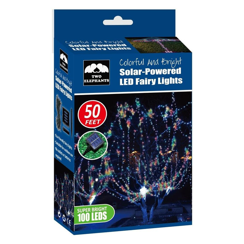 100-LED Solar Powered Fairy Lights Home Lighting - DailySale