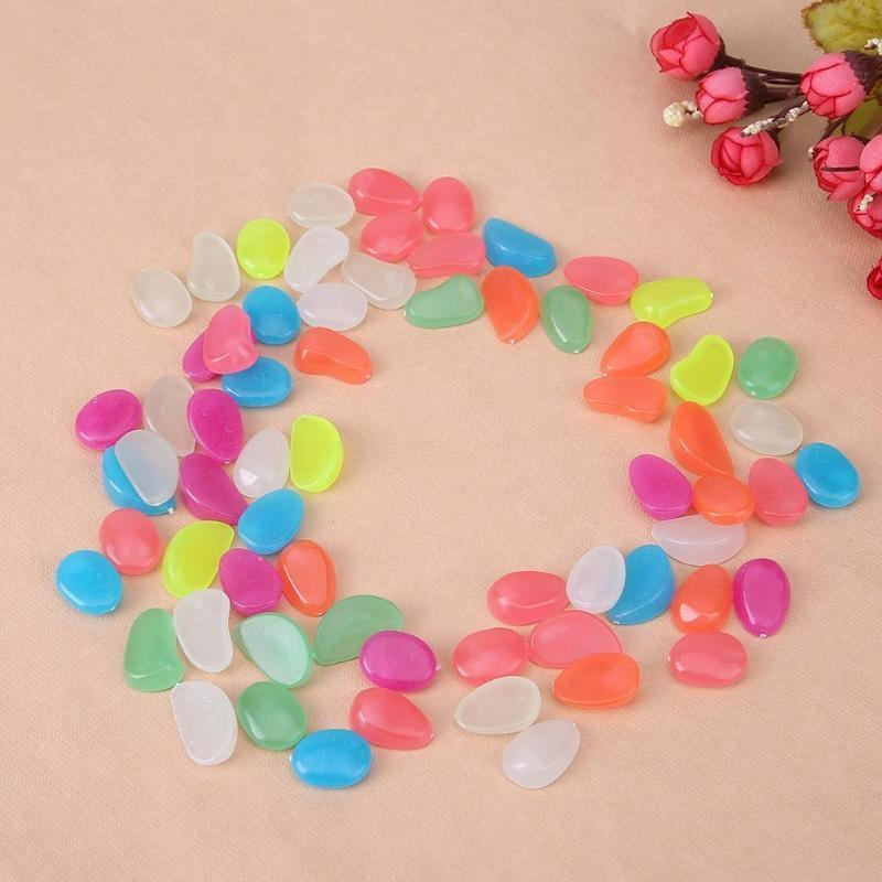 100-Pieces: Glow in the Dark Luminous Stones Toys & Games - DailySale