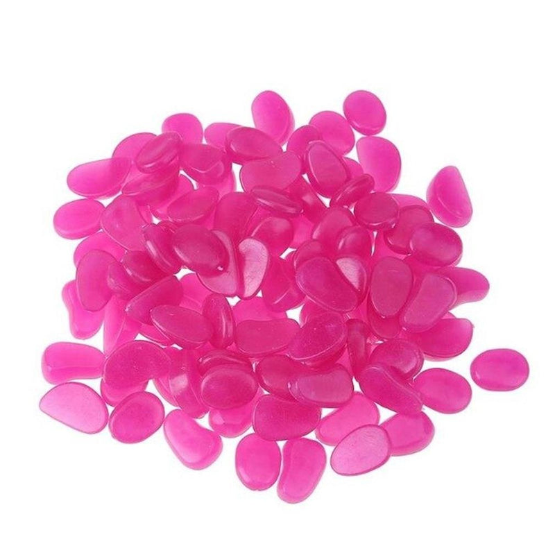 100-Pieces: Glow in the Dark Luminous Stones Toys & Games Purple - DailySale