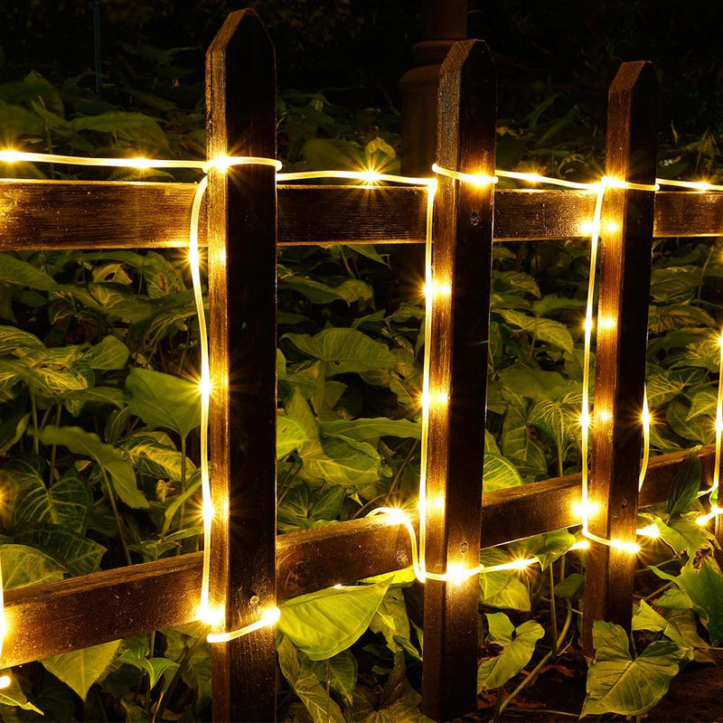 100LED Solar Power Fairy String Rope Light - Warm White Garden & Patio - DailySale