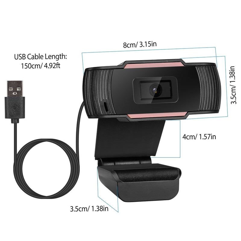1080P USB Webcam 170 Degree Vertical Adjustment with Clip Computer Accessories - DailySale