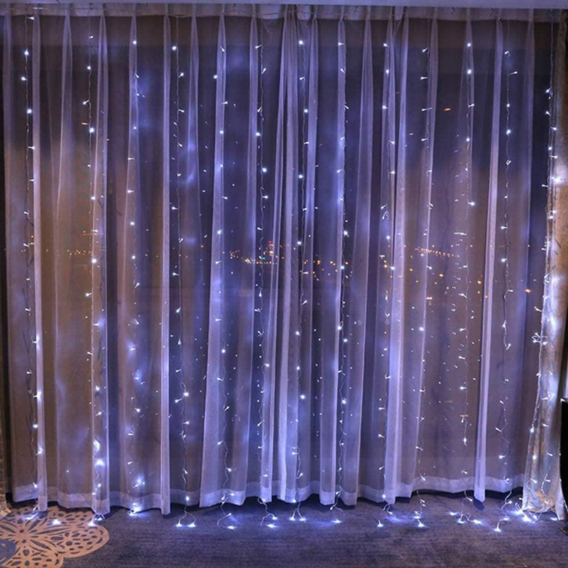 10Ft 300 LED Cool White Window Curtain String Light Lighting & Decor - DailySale