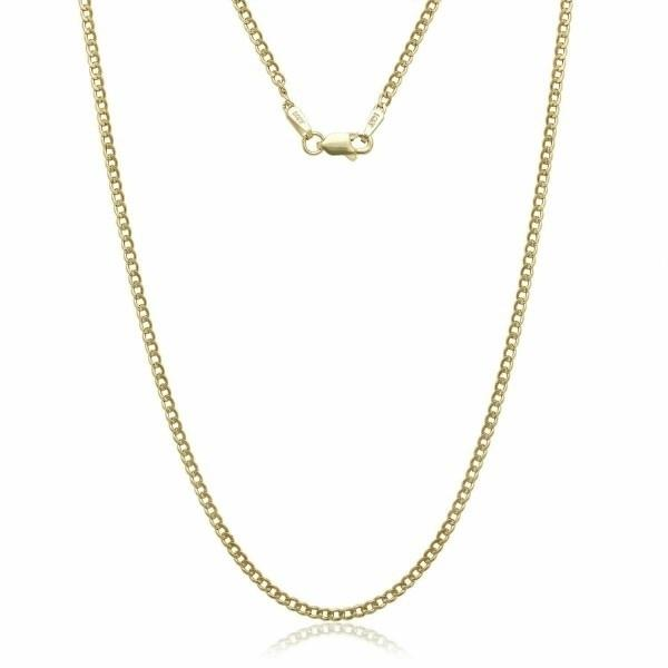 "10K Gold Cuban 3MM Link Chain - Assorted Sizes Jewelry 16"" - DailySale"