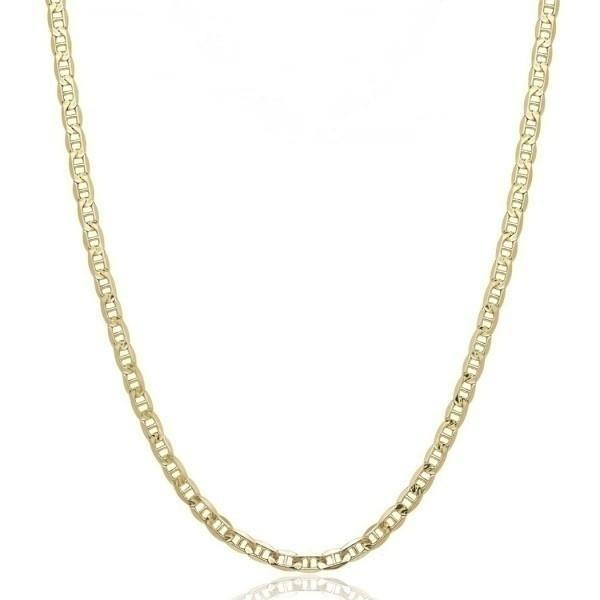 "10K Solid Yellow Gold 2.5mm Marina Chain - Assorted Sizes Jewelry 16"" - DailySale"