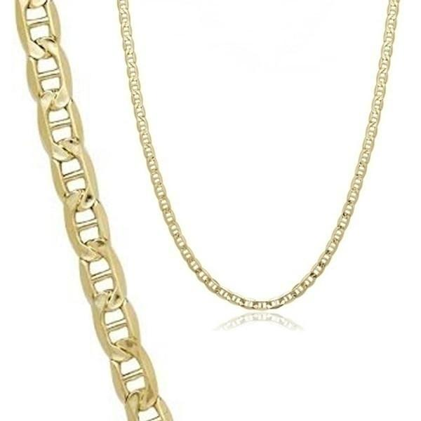 10K Solid Yellow Gold 2.5mm Marina Chain - Assorted Sizes Jewelry - DailySale