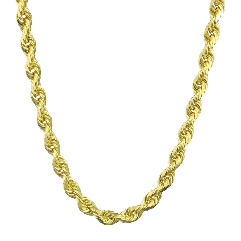 "10K Yellow Gold Rope Diamond Cut Chain Jewelry 16"" - DailySale"