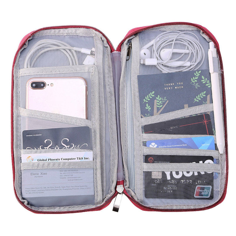 12 Pocket Travel Passport Wallet