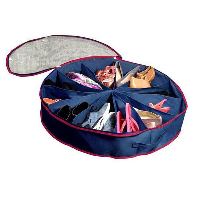 12-Compartment Round Shoe Organizer Home Essentials - DailySale