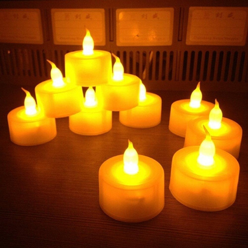 12-Pack: Flameless LED Tealight Candles, Battery Operated Furniture & Decor - DailySale