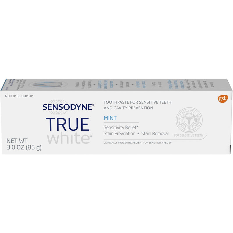 12-Pack: Sensodyne True White Mint Sensitivity Toothpaste 3oz Beauty & Personal Care - DailySale