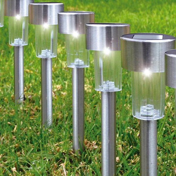 12-Pack: Solar LED Garden Pathway Stake Lights Lighting & Decor - DailySale