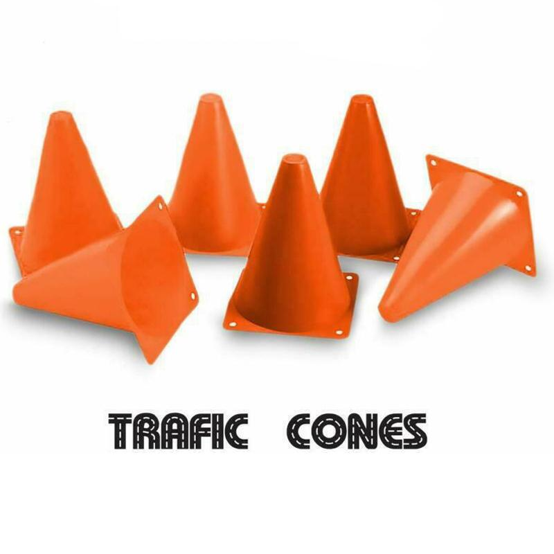"12-Piece: Plastic Cone 7"" Orange Colored for Driving Practice,Training, Parties Sports & Outdoors - DailySale"