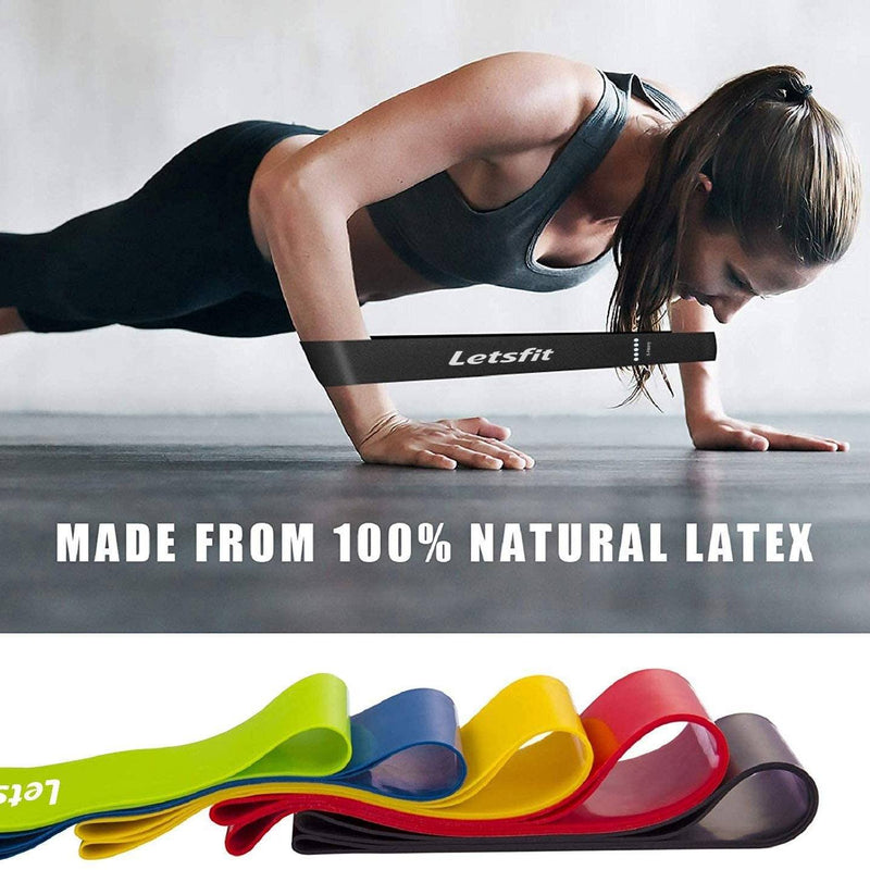 "12"" x 2"" Letsfit Resistance Loop Bands Wellness & Fitness - DailySale"