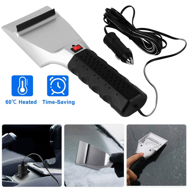 12V Car Electric Heated Ice Snow Scraper Automotive - DailySale