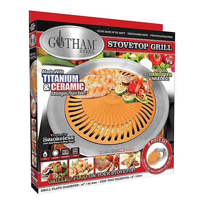 Gotham Steel Nonstick 13-Inch Smokeless Stovetop Grill - DailySale, Inc