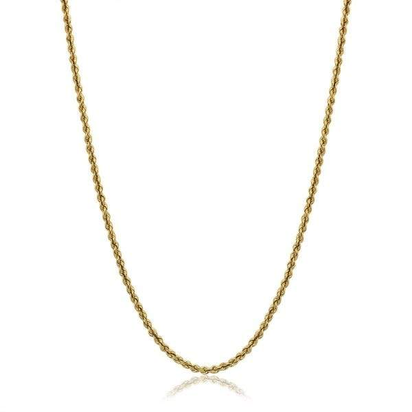 14-Karat Solid Gold Diamond-Cut Rope Chain Jewelry - DailySale