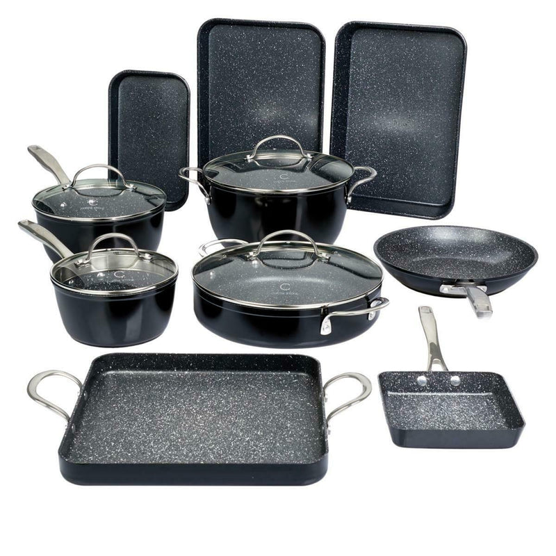 14-Piece Set: DuraPan Nonstick All-Purpose Cookware Kitchen & Dining Black - DailySale