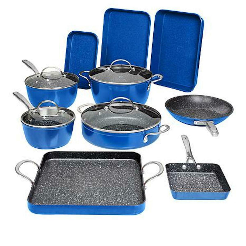 14-Piece Set: DuraPan Nonstick All-Purpose Cookware Kitchen & Dining Blue - DailySale
