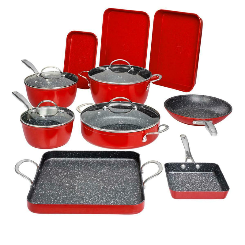 14-Piece Set: DuraPan Nonstick All-Purpose Cookware Kitchen & Dining Cherry - DailySale