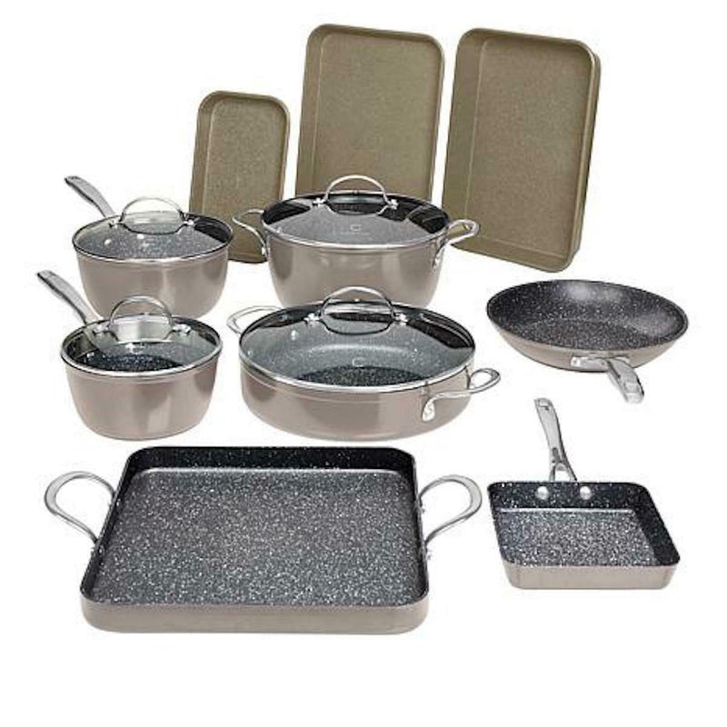 14-Piece Set: DuraPan Nonstick All-Purpose Cookware Kitchen & Dining Gray - DailySale