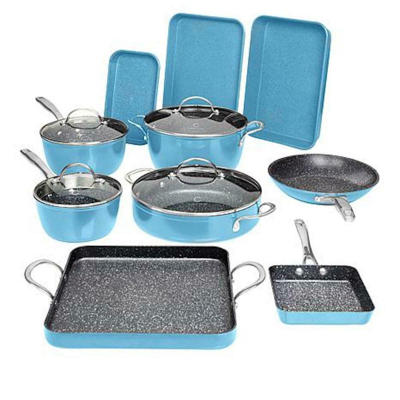 14-Piece Set: DuraPan Nonstick All-Purpose Cookware Kitchen & Dining Slate - DailySale