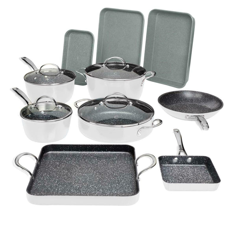 14-Piece Set: DuraPan Nonstick All-Purpose Cookware Kitchen & Dining White - DailySale