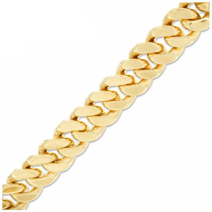 14K Gold Over Bronze Handmade Cuban Bracelet Bracelets - DailySale