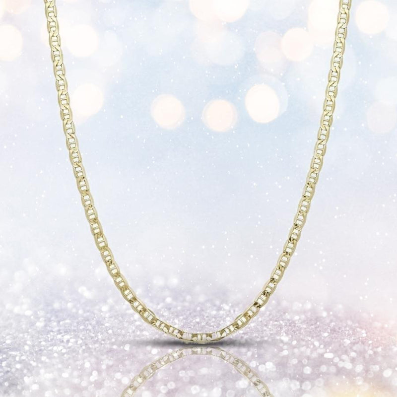 "14K Solid Yellow Gold 2.5mm Marina Chain - Assorted Sizes Jewelry 16"" - DailySale"