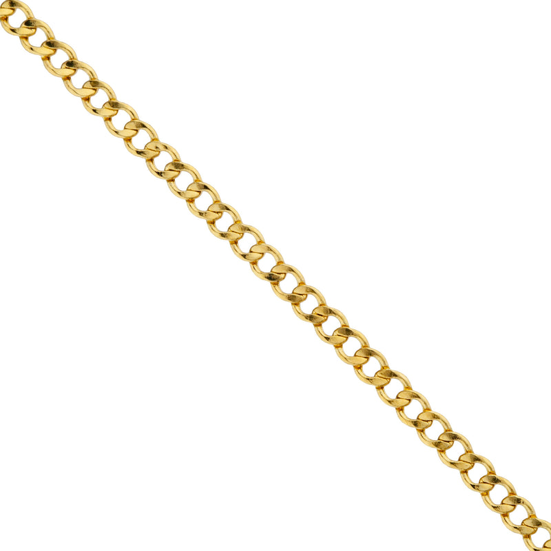 "14K Solid Yellow Gold 2mm Cuban Necklace Chain Necklaces 16"" - DailySale"