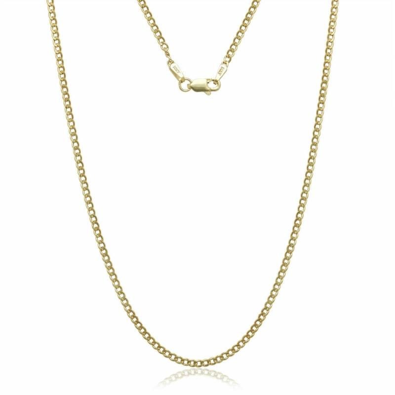 "14K Solid Yellow Gold Cuban Link Chain Necklace Jewelry 16"" - DailySale"