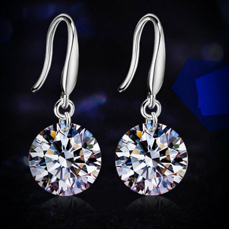 14k White Gold Plated 8.5MM Earrings Jewelry - DailySale