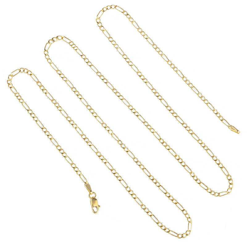 "14k Yellow Gold Figaro Chain Necklaces 16"" - DailySale"
