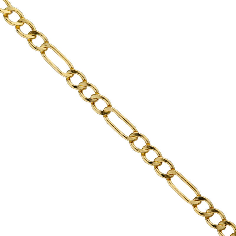 14k Yellow Gold Figaro Chain Necklaces - DailySale