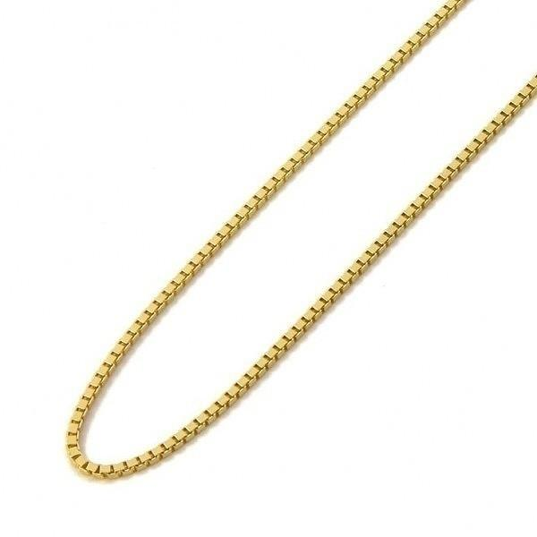 "14K Yellow Gold High Polish Classic Box Link Chain Necklace - Assorted Sizes Jewelry 30"" - DailySale"
