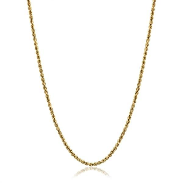 14K Yellow Gold Solid Rope Chain Necklaces - DailySale