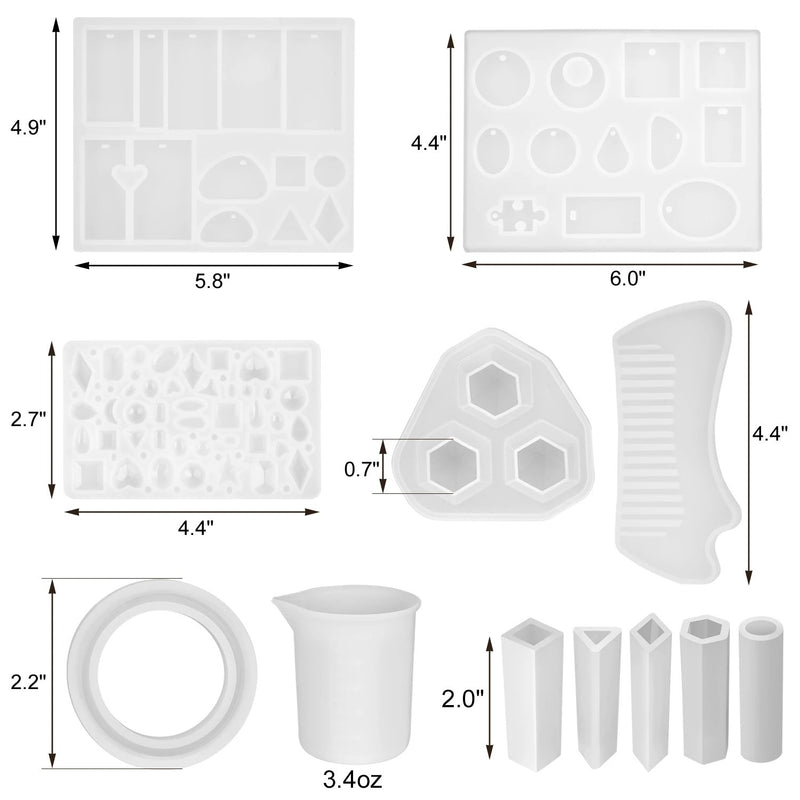 155-Piece: DIY Silicone Casting Molds Tool Jewelry Making Mould Set Everything Else - DailySale