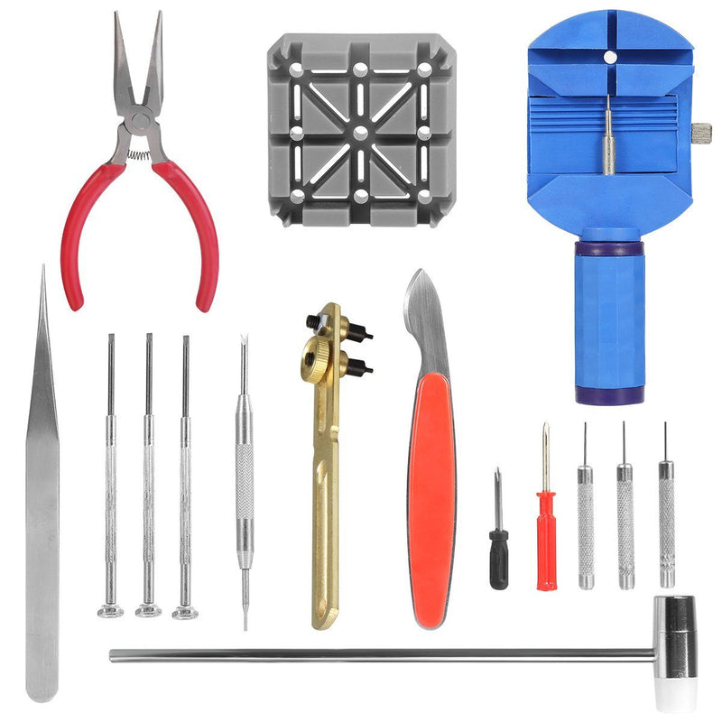 16-Pieces Set: Watch Repair Tool Kit Everything Else - DailySale