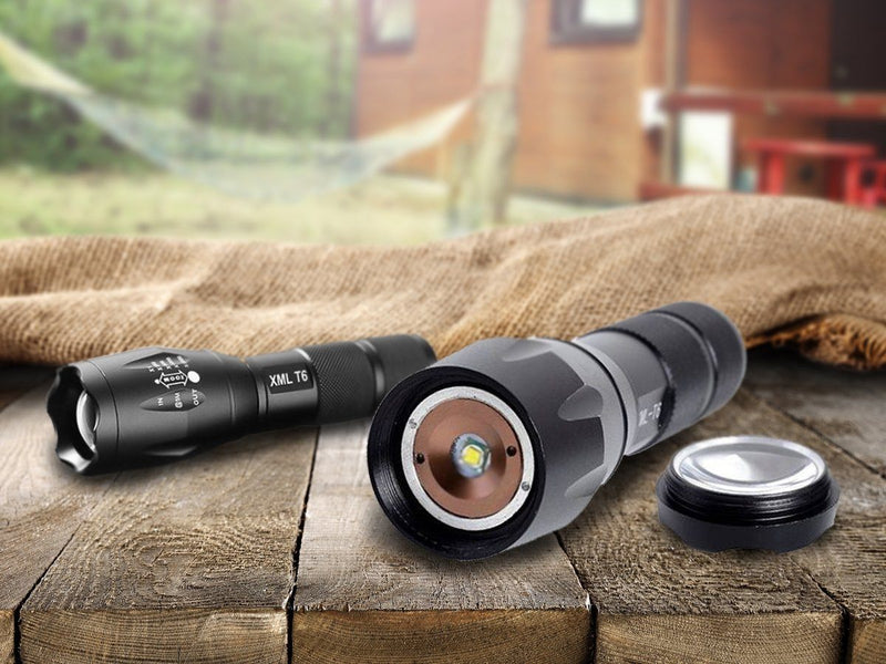 1600 Lumen Aluminum Alloy Tactical Flashlight with Zoom Sports & Outdoors - DailySale