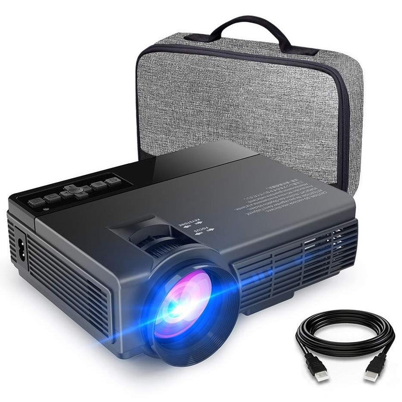 170'' Display, 1080P Supported Mini Projector - Assorted Colors Gadgets & Accessories Black - DailySale