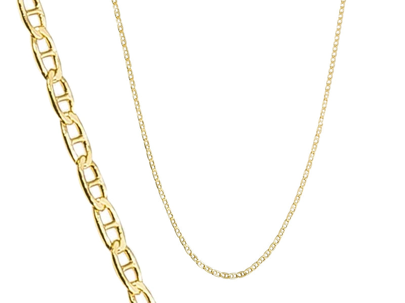 14K Solid Yellow Gold 2.5mm Marina Chain - DailySale, Inc